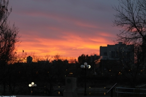 Sunset downtown wpg