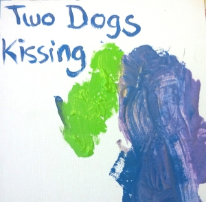 Two Dogs Kissing