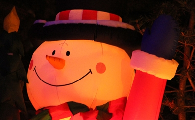 blowup snowman photo